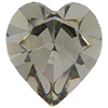 SWAROVSKI 4800 Heart Rhinestones 6.6 x 6 mm Black Diamond