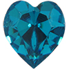 SWAROVSKI ELEMENTS 4800 Heart Rhinestones Blue Zircon