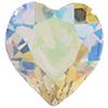 SWAROVSKI 4800 Heart Rhinestones 5.5 x 5 mm Crystal AB