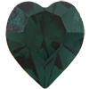 SWAROVSKI ELEMENTS 4800 Heart Rhinestones Emerald