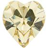 SWAROVSKI 4800 Heart Rhinestones 5.5 x 5 mm Jonquil