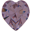 SWAROVSKI 4800 Heart Rhinestones 5.5 x 5 mm Light Amethyst