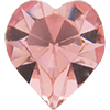 SWAROVSKI 4800 Heart Rhinestones 5.5 x 5 mm Light Rose