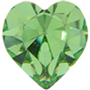 SWAROVSKI 4800 Heart Rhinestones 5.5 x 5 mm Peridot