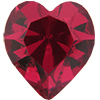 SWAROVSKI 4800 Heart Rhinestones 5.5 x 5 mm Ruby
