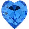 SWAROVSKI 4800 Heart Rhinestones 5.5 x 5 mm Sapphire