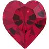 SWAROVSKI 4800 Heart Rhinestones 5.5 x 5 mm Siam