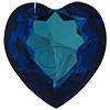 SWAROVSKI 4827 Heart Rhinestones 28mm Bermuda Blue