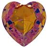 SWAROVSKI 4827 Heart Rhinestones Crystal Brandy