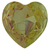 SWAROVSKI 4827 Heart Rhinestones 28mm Lemon