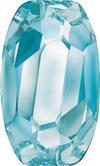 SWAROVSKI 4855 Organic Oval Fancy Stone 10 x 6 Aquamarine
