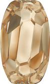 SWAROVSKI 4855 Organic Oval Fancy Stone 13 x 8 Golden Shadow