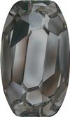 SWAROVSKI 4855 Organic Oval Fancy Stone 10 x 6 Jet Hematite