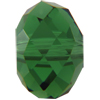 Swarovski #5040 Faceted Roundelle Bead Dark Moss Green