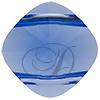 SWAROVSKI 5180 Double Hole Square Bead 14mm Sapphire