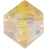 SWAROVSKI 5328 Bicone Beads 6mm Light Topaz AB 2x