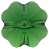 Swarovski 5752 Clover Beads 12mm Dark Moss Green