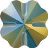 Swarovski 5752 Clover Beads 12mm Crystal Iridescent Green