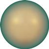 SWAROVKSI 5817 1/2 Drilled Pearl Flat Back Pearl 6mm Iridescent Green