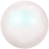Swarovski 5818 - Half Drilled Round Pearl 10mm Pearlescent White