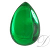 Flatback cabochon pear shaped acrylic (lead free)