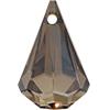SWAROVSKI 6022 XIRIUS Raindrop Pendant 24mm Crystal Bronze Shade