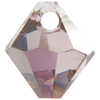 Swarovski 6301 Top Drilled Bicone Pendant Light Amethyst Satin 6mm