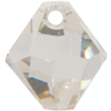 Swarovski 6301 Top Drilled Bicone Pendant Crystal Silver Shade 8mm