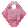 Swarovski 6301 Top Drilled Bicone Pendant Rose 6mm