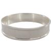 9mm Wide Channel Bangle Bracelet in Silver Size 7-1/2""