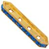 SWAROVSKI 77725 Rondelle Spacer Bars 4 Hole Capri Blue/Gold