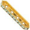 SWAROVSKI 77725 Rondelle Spacer Bars 4 Hole Chrysolite/Gold