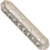 SWAROVSKI 77725 Rondelle Spacer Bars 4 Hole Crystal/Silver