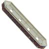 SWAROVSKI 77725 Rondelle Spacer Bars 4 Hole Cyclamen Opal/Silver