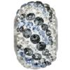 Swarovski 82023 - Becharmed Pave Elements Beads - Air 14.5mm Crystal Silver Night, Lt Sapphire, Crystal Silver Shade