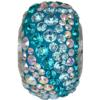 Swarovski 82033 - Becharmed Pave Elements Beads - Water 14.5mm Blue Zircon, Aquamarine, Crystal AB
