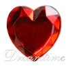 Acrylic (Plexiglas) Flatback Rhinestones Heart Shaped 18mm