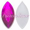 Acrylic (Lucite) Navettes Rhinestones 12mm x 6mm