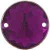 Sew on Acrylic Rhinestones 13mm Amethyst