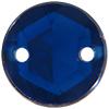 Sew on Acrylic Rhinestones 11mm Dark Sapphire