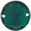 Sew on Acrylic Rhinestones 11mm Emerald
