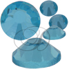 Alora Flatback Rhinestones 12ss Aqua