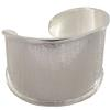 35mm Wide Center Channel Cuff Bracelet in Silver
