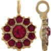 Beadelle® Daisy with Loop Fleurette 12 mm Matte Gold/Garnet