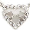 Empty Small Heart With Crystal Rhinestone Necklace 2 6mm (29ss) & 1 8.5mm (39ss) for Swarovski 1088