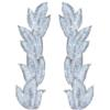CRYSTAL IRIS APPLIQUE PAIR