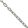 Fancy Style Chain, 0.41mm wire size, 2.22mm width x 3.89mm length, Imitation Rhodium finish