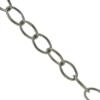 Cable Chain, 1.78mm wire size, 12.08mm width x 16.20mm length, Imitation Rhodium finish
