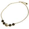 12mm Empty 5 Setting Necklace for Swarovski 4470 Antique Brass