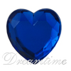 Acrylic (Plexiglas) Flatback Rhinestones Heart Shaped 15mm